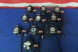 Used Scott Ez flo Black Scba Regulators Lot Of 10 Regulators