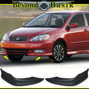 2003 2004 Toyota Corolla S Factory Style Body Kit Front Bumper Chins Lip L R 2pc