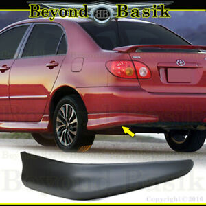For 2003 2008 Toyota Corolla S Style 1pc Left Driver Rear Bumper Body Kit