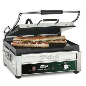 Waring Wfg275 Tostato Supremo Smooth Top Bottom Panini Sandwich Toasting Grill
