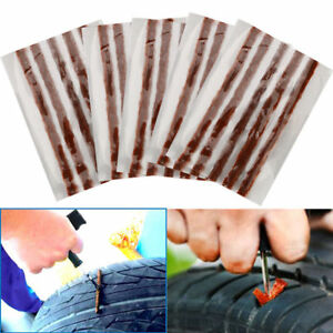 1kit 5strips Car Tyre Tubeless Seal Strip Plug Tire Puncture Repair Recovery Kit