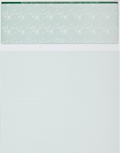 Blank Check Paper Stock Computer Check On Top Marble Green Count 2500