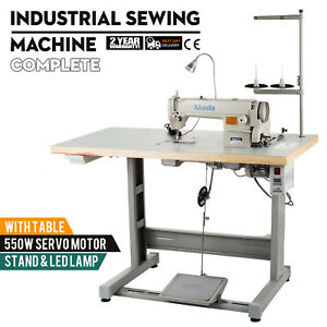 Sewing Machine With Table servo Motor stand led Lamp Complete Mechanical Tool