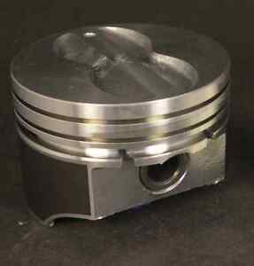 Silvolite Chevy 350 Hypereutectic Coated Flat Top Pistons Cast Rings 9 5 1 Std