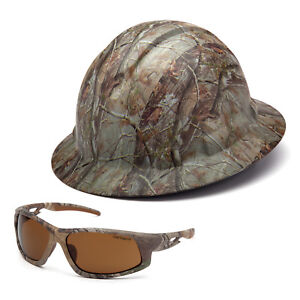 Combo Pyramex Camouflage Hard Hat Carhartt Camouflage Safety Glasses