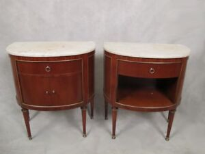 Pair Of French Louis Xvi Style Side Tables 11597