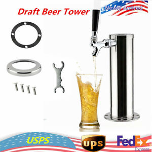 Single Tap Draft Beer Beverage Tower 3 Stainless Steel 1 Faucet Homebrew 13 Us