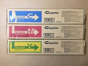 Genuine Copystar Tk 5209 Cmy Color Set For Cs356ci Fedex 2day Air