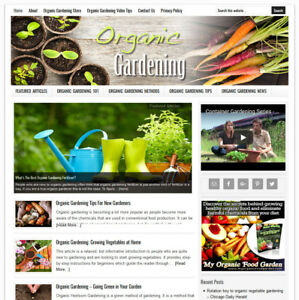 Organic Gardening Blog Website Business For Sale W Auto updating Content
