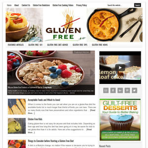 Gluten Free Living Tips Turnkey Website Business For Sale W Auto Content