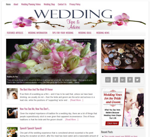 Wedding Tips Niche Blog Website Business For Sale With Auto Updating Content
