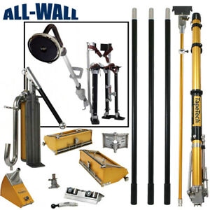 Tapetech Full Drywall Taping finishing Tool Set bonus Free Stilts Sander