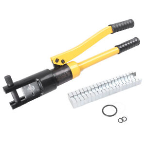 16 Ton Hydraulic Wire Terminal Crimper Battery Cable Lug Crimping Tool W dies Mu