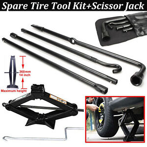 Repair Spare Tire Tool For Ford 2004 2014 F150 And Scissor Jack Black Genuine Us