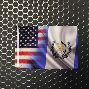 America Usa Guatemala Dual Country Domed Decal Distress Sticker 3d 3 25 X2