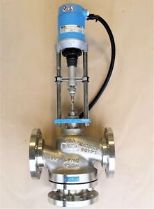 Hora Dn65 2 1 2 Pn40 600 Psi Stainless Steel 3 way Globe Valve W Actuator