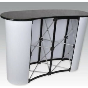 Business Trade Show Exhibit Counter Frame Portable Table Display