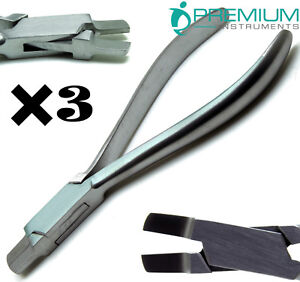 3 Pcs New Arch Bending Pliers 5 Orthodontics Wire Forming Dental Instruments