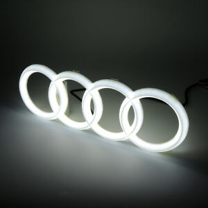 4d Illuminated Car Led Grille Blled Logo Emblem Light For Audi Q3 Q5 A1 A3 A4 A6