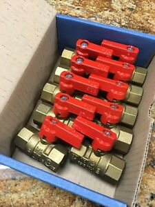 Lot Of 10 New Dura 3 4 Inch Brass Gas Ball Valve Natural Gas Or Propane Csa