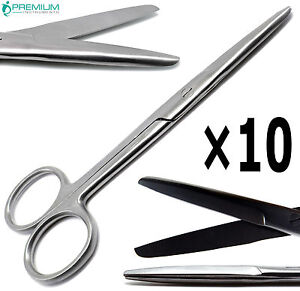 10 Pcs Surgical Operating Mayo Scissors Straight 5 5 Blunt blunt Instruments