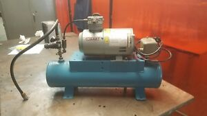 Gast 1hab 10 m100x Air Compressor With 3 Gallon Tank And Pressure Switch