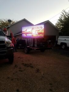 Outdoor Led Sign Mobile Trailer Portable Sign Billboard Electronic Sign