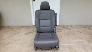 11 13 Honda Odyssey Middle 2nd Row Dark Grey Left Driver Side Leather Seat Oem