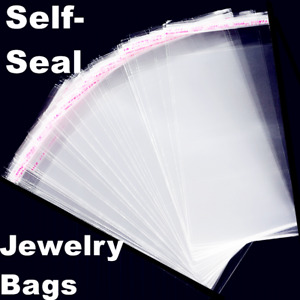2x100 Clear Resealable Recloseable Plastic Self Adhesive Bag Cello Lip tape Bags