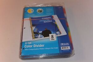 24 X Bazic 3118 3 ring Binder Dividers With 8 insertable Color Tabs