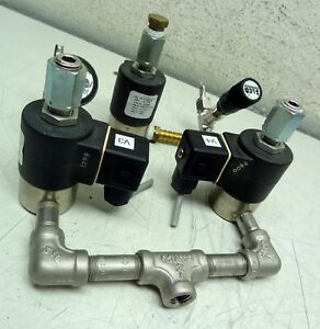 Lot Of 3 Parker Snap tite 38237 2nt atf6 Solenoid Valves 90 Psi 1 8 3 32 Orif