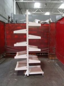 Hergo Rolling Industrial Shelving Unit With 9 Shelves