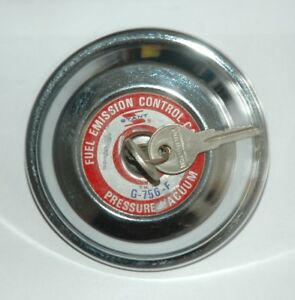 1971 76 Amc Gremlin 1971 73 Hornet Locking Gas Cap G756 New Chrome 2 Keys