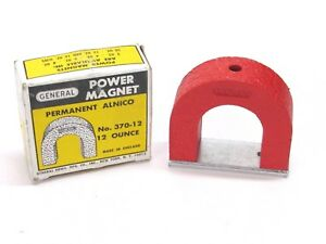 New General Tools Alnico Power Horseshoe Magnet 42 Lb Pull No 370 12