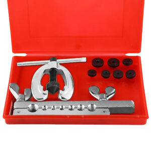 10pcs Metric Brake Pipe Flaring Kit Fuel Repair Tool Kit Set Mechanic Plumber