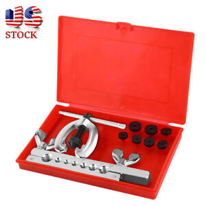 7 Dies Double Flare Tube Brake Lines Pipe Flaring Mechanic Plumber Tool W Case