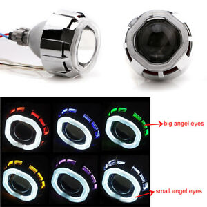 2 5 Car Bi xenon Hid Projector Lens Kit Hi low Light With Angel Eyes And Bulb