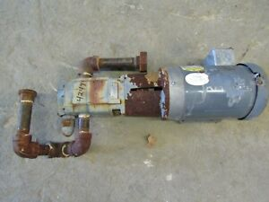 Viking Pump Sg 40782 gov W 1 5hp Baldor Electric Motor used