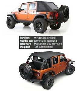 Smittybilt Complete Protek Soft Top Hardware For 07 18 4 Door Jeep Wrangler Jk