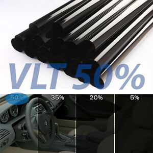 Uncut Window Tint Roll 50 Vlt 20 5ft Feet Home Commercial Office Auto Film