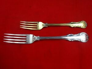 2 Sterling Silver Russian Forks 1 Luncheon And 1 Dinner 4405