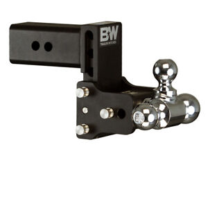 B w Tow And Stow Adjustable Ball Mount 3 Shank 5 Drop Tri ball Ts30048b