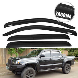 For 05 15 Toyota Tacoma Double Cab 4dr Slim Window Visor Vent Shade Deflector