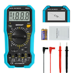Handheld Digital Multimeter Ohm Ac Dc V A Automotive Multitester Backlight