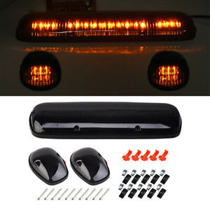 3pcs Smoke Cab Roof Running White Led Light For 02 07 Chevy Silverado Gmc Sierra