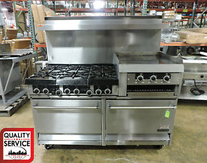 Garland H283rc Commercial 6 Burner Gas Range W 2 Ovens Griddle