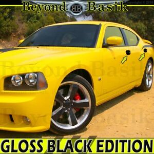 2006 2007 2008 2009 2010 Dodge Charger Gloss Black Door Handle Covers Overlays