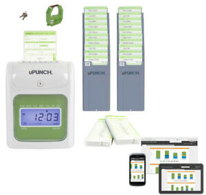 Payroll Machine Time Clock Punch Electronic Employees Card System Work Office