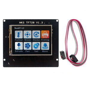 Usa 2 8 Mks Full Color Touch Screen Tft28 Lcd Controller For 3d Printer Kit