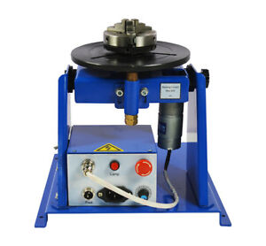 110v 10kg Light Duty Welding Positioner Turntable With 80mm Chuck 2 16rpm New